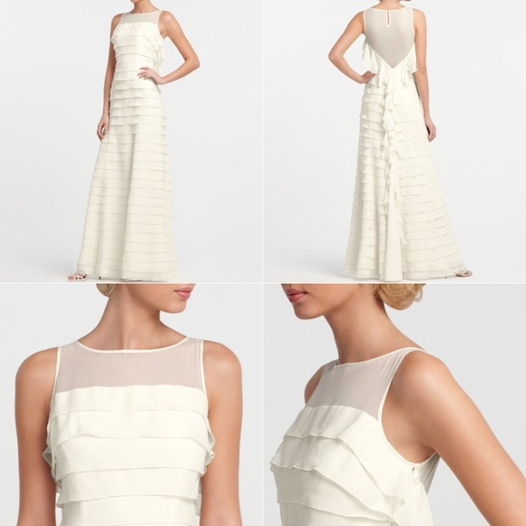 Ann Taylor Dresses Silk Georgette Tiered Wedding Dress Poshmark